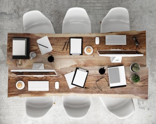 shutterstock_Work team desk
